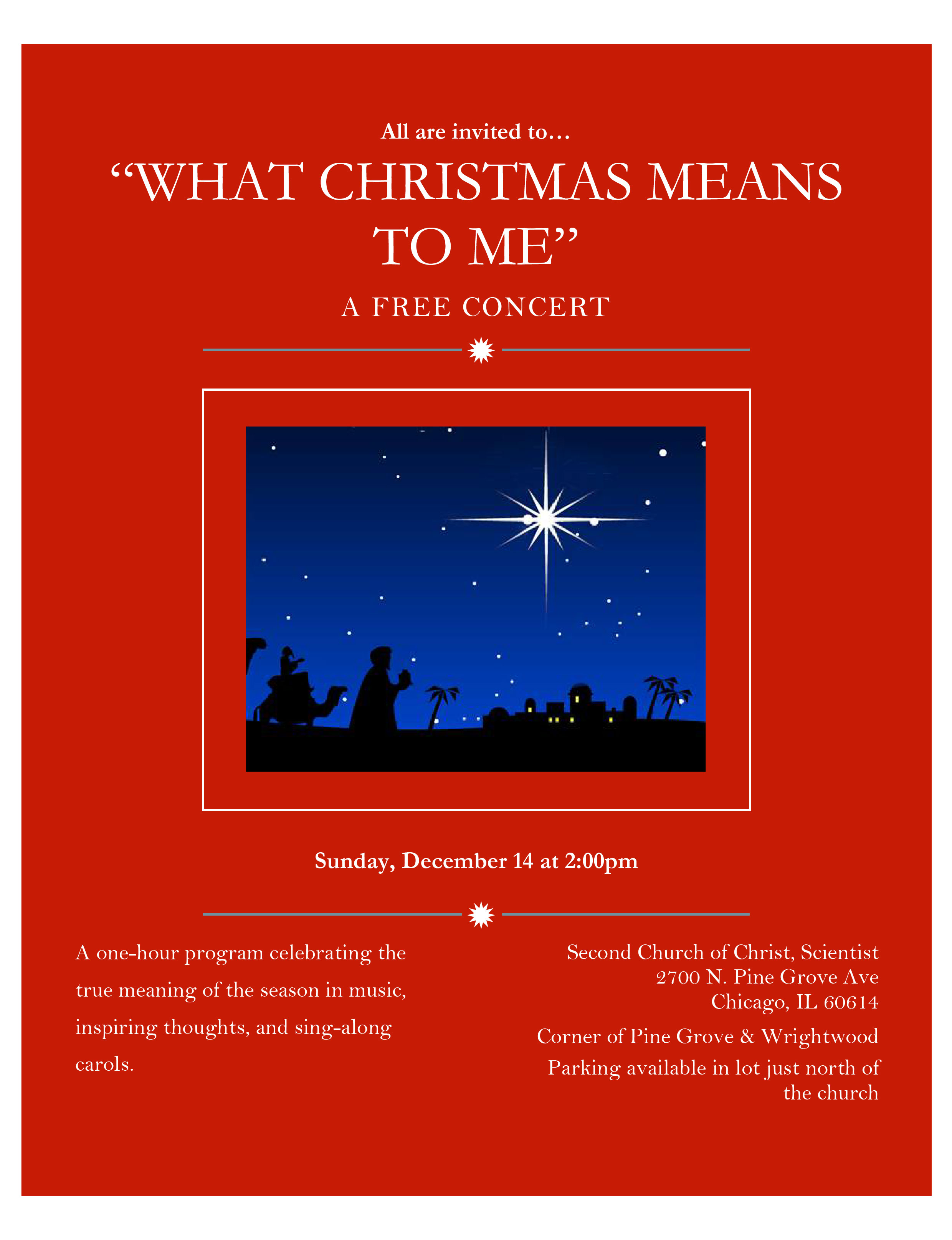 Christmas Concerts Near Me.What Christmas Means To Me Concert Seventeenth Church Of